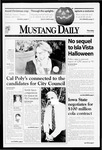 Mustang Daily, October 29, 1998