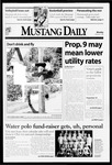 Mustang Daily, November 2, 1998