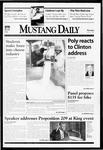 Mustang Daily, January 21, 1999