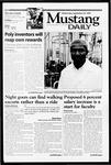 Mustang Daily, September 29, 1999