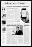 Mustang Daily, January 9, 2008