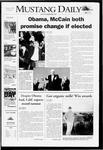 Mustang Daily, November 4, 2008
