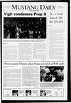 Mustang Daily, November 6, 2008