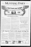 Mustang Daily, November 20, 2008