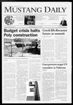 Mustang Daily, January 12, 2009