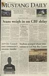 Mustang Daily, October 1, 2009