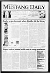 Mustang Daily, October 20, 2009