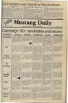 Mustang Daily, October 30, 1980