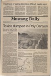 Mustang Daily, February 18, 1981